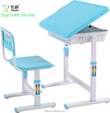 bedroom furniture ergonomic children adjustable study table set