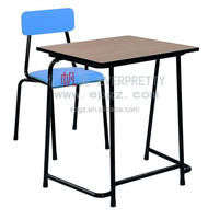 Strong Popular School Furniture Used Single Desk And Chair Set Of Single School Desk