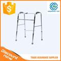 barato y bien plegable de aluminio ajustable andador del paciente