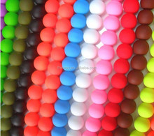Colorful Neon beads wholesale Many color in choice Diy jewelry making beads Rubberized glass beads matte
