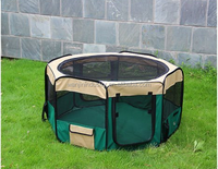 2015 portable soft pet playpen soft side play pen dog kennel cat fence with panel