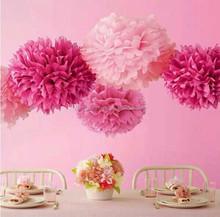 Color tissue paper pom poms paper decorations