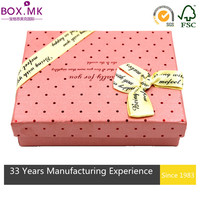 Lowest Price Promotional Pink Rectangle Gourmet Rigid Candy Box With Window