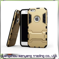 2 in 1 Drop shock Hybrid Case for iphone 6 ,with Bracket Case for iphone 6 Plus