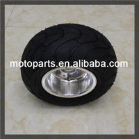 Go-kart ATV tire and wheel assembly of 13x6.5-6 type