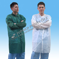 Disposable kids lab coats, short style lab coats, protection lab gowns