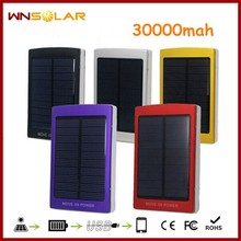 Portable mobile phone solar charger 30000mah solar charger