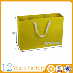 luxury shopping advertising coloured paper bags