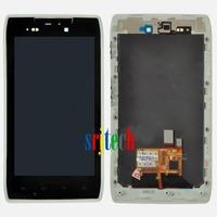 White for Motorola Droid Razr XT910 XT912 LCD Touch Glass Digitizer Screen + Frame