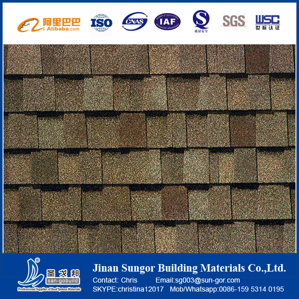 China cheap building materials laminated asphalt roof for Cheap construction materials