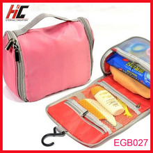 outdoor travel goods hanging cosmetic bag with mirror make up bag