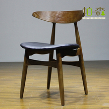 Antique wooden Leather Arm dining chair/ Restaurant chair(y8056-Y12)