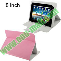Cheapest Universal for 8 inch Tablet PC Leather Cover with Corner Grab Clips