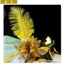 MJ-028 Yiwu Caddy High end fashion five feather eye with flower party mask