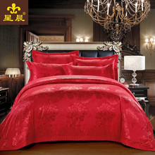 high count and high density jacquard bedding sets