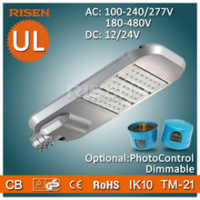 Risen DLC UL CE RoHS 5 Years Warranty Led Parking Lot, Daylight Sensor street lamp post
