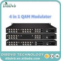 Broadcast quality Quad qam modulator, digital cable tv modulator with 16 ASI ports