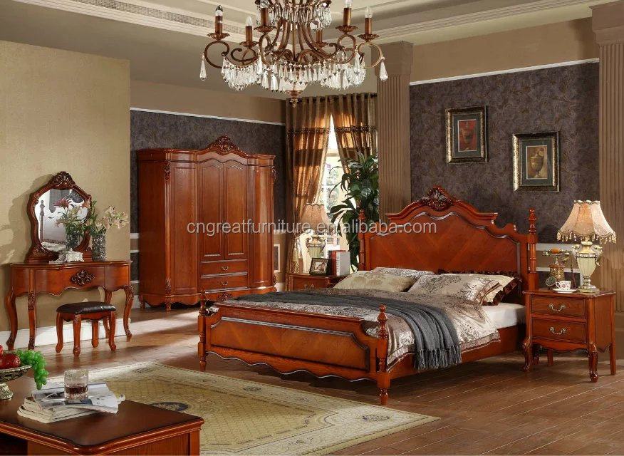 Beau Latest Italy Wood Classic Bedroom Furniture Designs