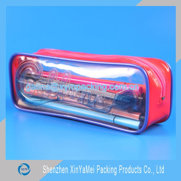 clear pvc pencil pouch
