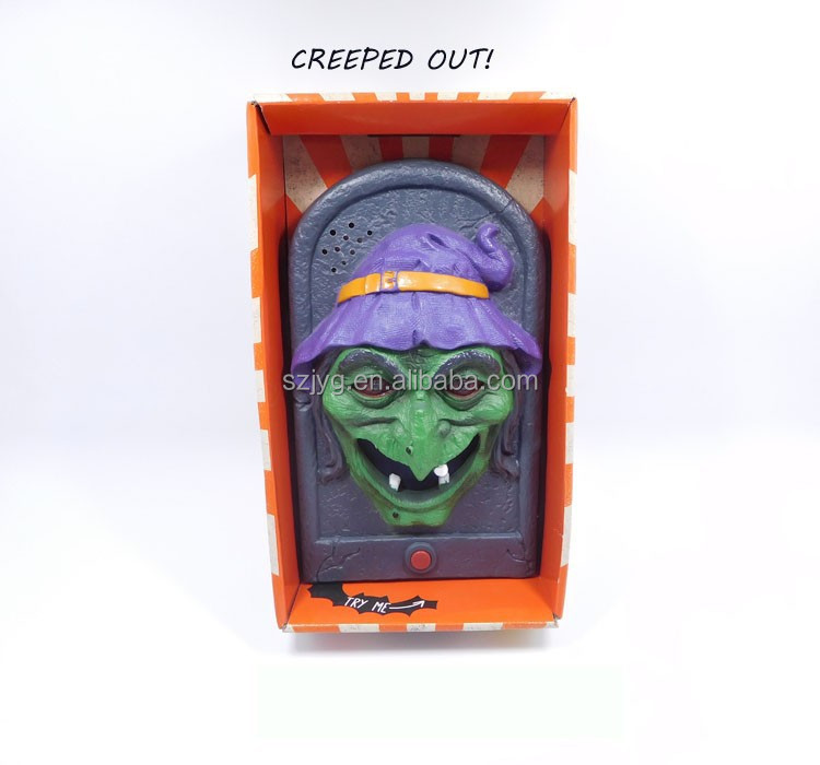 Halloween Decorative Wizard With Led Lighting Wickedly  ~ 035658_Halloween Animated Door