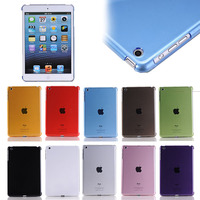 transarent clear smart cover for iPad mini 1 / 2 / 3, back smart cover for ipad mini 1 2 3