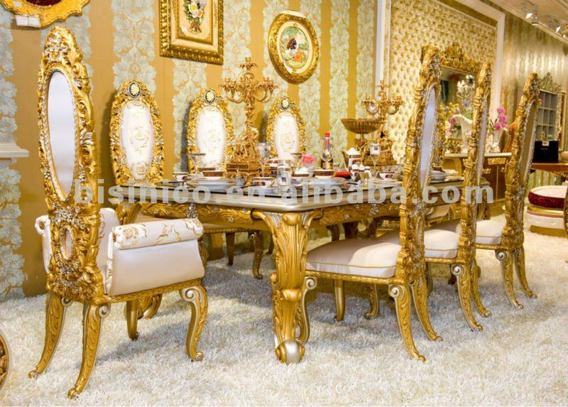 Luxury Home Dining Table Set European Classical Dining Table And Chair Wooden