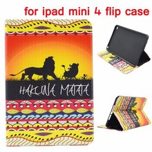 Top Quality Leather Cover for ipad mini 4 flip case
