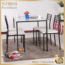 Modern simple design dining table hot sale dinning table set with chair tempered glass dinning tables