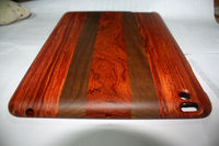 New brand wood materil Can be split up and down cover case for ipad 2&3