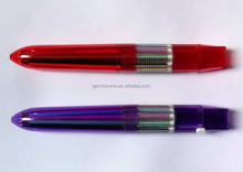 Rocket shape 10 colors ball pen