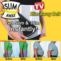 Lose Weight Adjustable Slimming Away Belt Weight Loss Trimmer Belt 5 Zippers Firm Tummy Belly Slimming Abdomen Flat