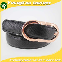 2015 New Design women accessories pu belt with black leather for jeans in YiWu