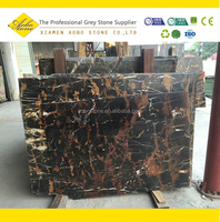 Afghanistan polished Black and Gold Marble
