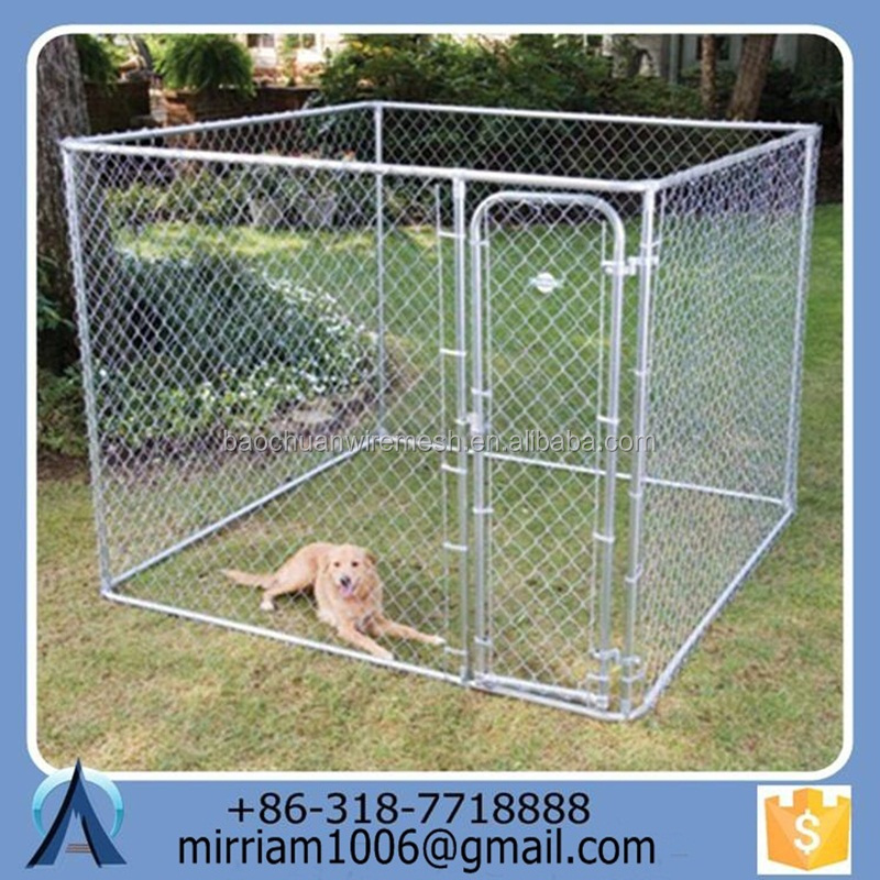 2015 manufacturer wholesale wire mesh large dog cage dog