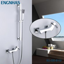 Contemporary wall mounted waterfall bathtub faucet types