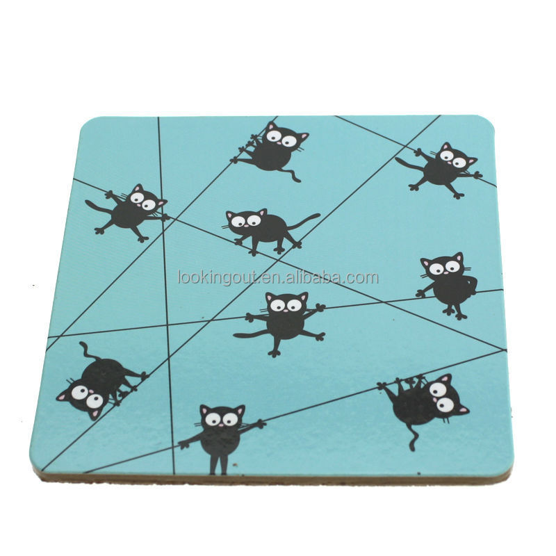 tailor make square cork backed placemats and coasters