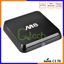 Full XBMC Android 4.4 KiKat Amlogic S802 Quad Core 8 Core Mali-450 4K2K 2.4GHz/5.0GHz Dual band Wifi M8 Google Android M8 Tv Box
