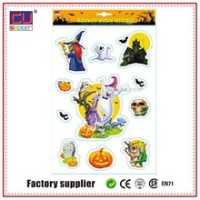 removable halloween self adhesive paper sticker for kids