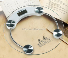 Round design personal scale / bathroom scale / glass personal scale