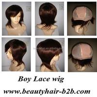 6inch brown 100% Brazilian human hair full lace wig for men