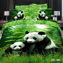 Mother and Baby Panda 3D Bedding Set