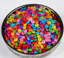 wholesale colorful beads findings acrylic beaded charm accessory jewelry