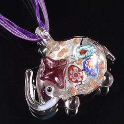 Gets.com lampwork tiny planet or earth necklace