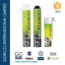 Gorvia Item-E 500ml Straw type PU foam sealant Expandable foam crack filler/waterproof foam sealant