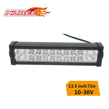 Flameproof and waterproof led 4x4 light bar reflector 72w 14 inch