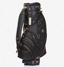 Helix cow leather golf bags / 9 inches real leather golf cart bag / hand made golf bag