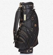 golf caddie bag made by genuine leather