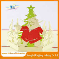 high quality die cut father christmas paper gift tags