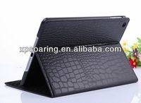 Fashion Stand leather case pouch for ipad 5 crocodile case