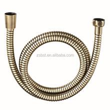 Bronze chrome plated stainless steel flexible shower hose